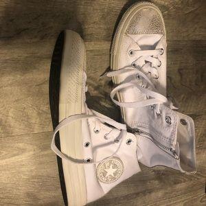 White High Top Converse All Stars